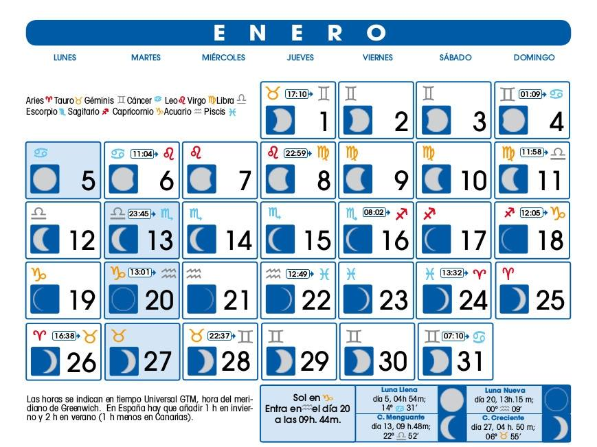 Calendario lunar enero 2018 depilacion calendario hd for Calendario de luna creciente 2016